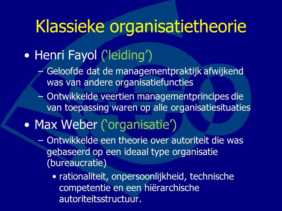 Klassieke organisatietheorie