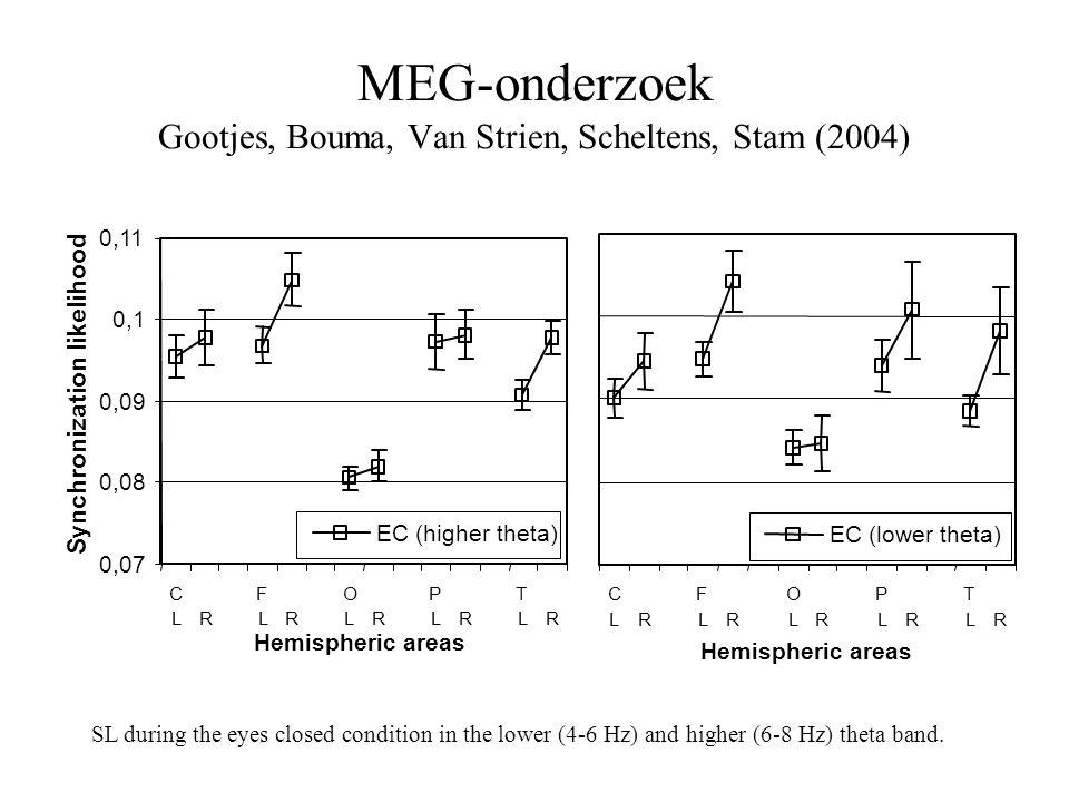 MEG-onderzoek Gootjes, Bouma, Van Strien, Scheltens, Stam (2004)