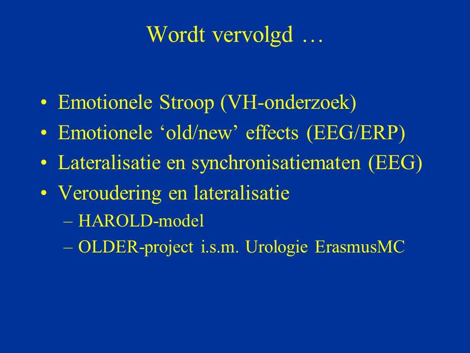 Wordt vervolgd … Emotionele Stroop (VH-onderzoek)