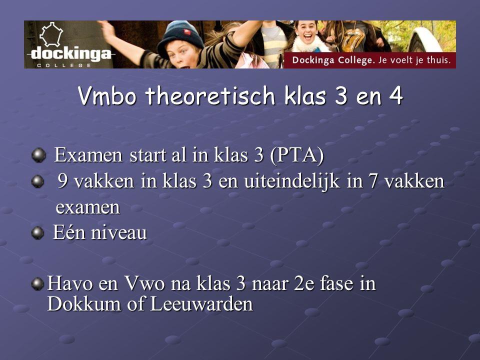 Vmbo theoretisch klas 3 en 4