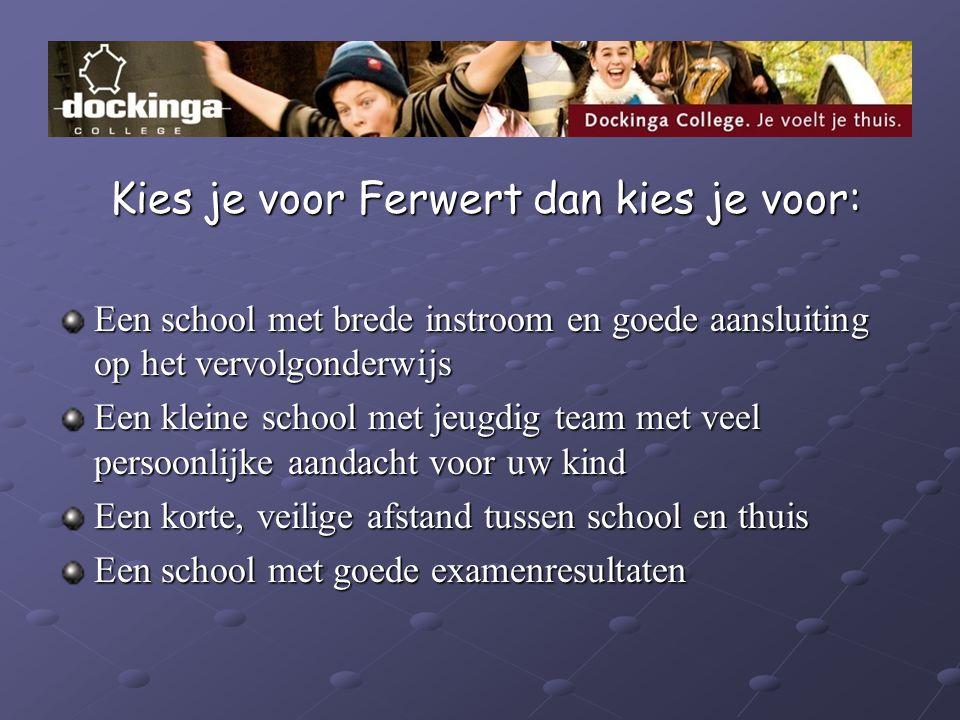 Kies je voor Ferwert dan kies je voor: