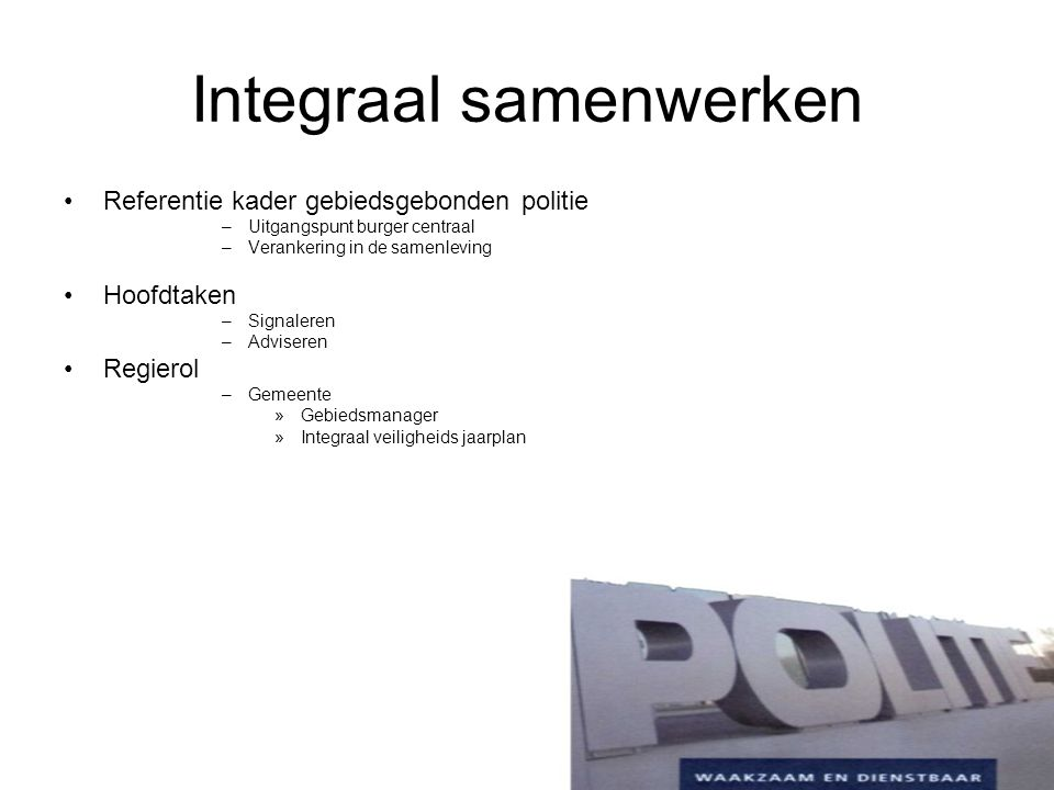 Integraal samenwerken