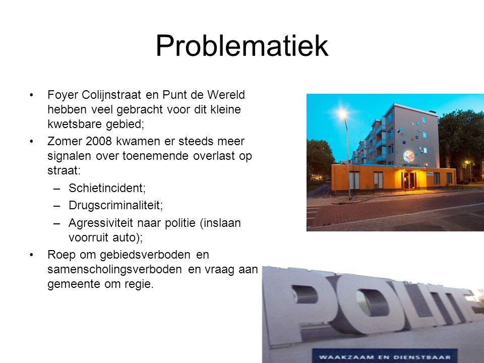 Problematiek Foyer Colijnstraat en Punt de Wereld hebben veel gebracht voor dit kleine kwetsbare gebied;