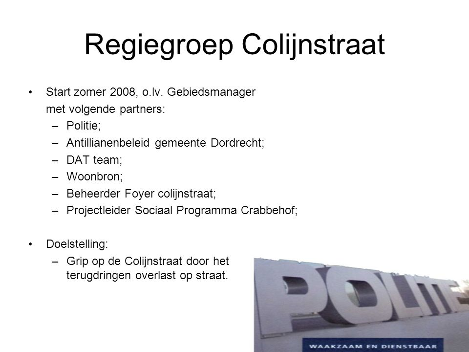 Regiegroep Colijnstraat