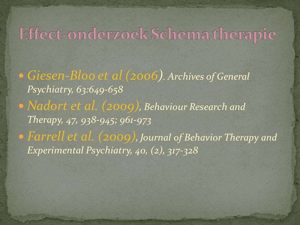 Effect-onderzoek Schema therapie