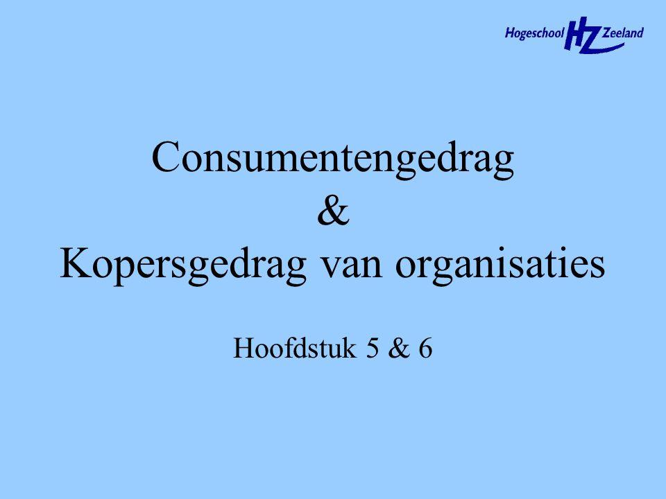 Consumentengedrag & Kopersgedrag van organisaties