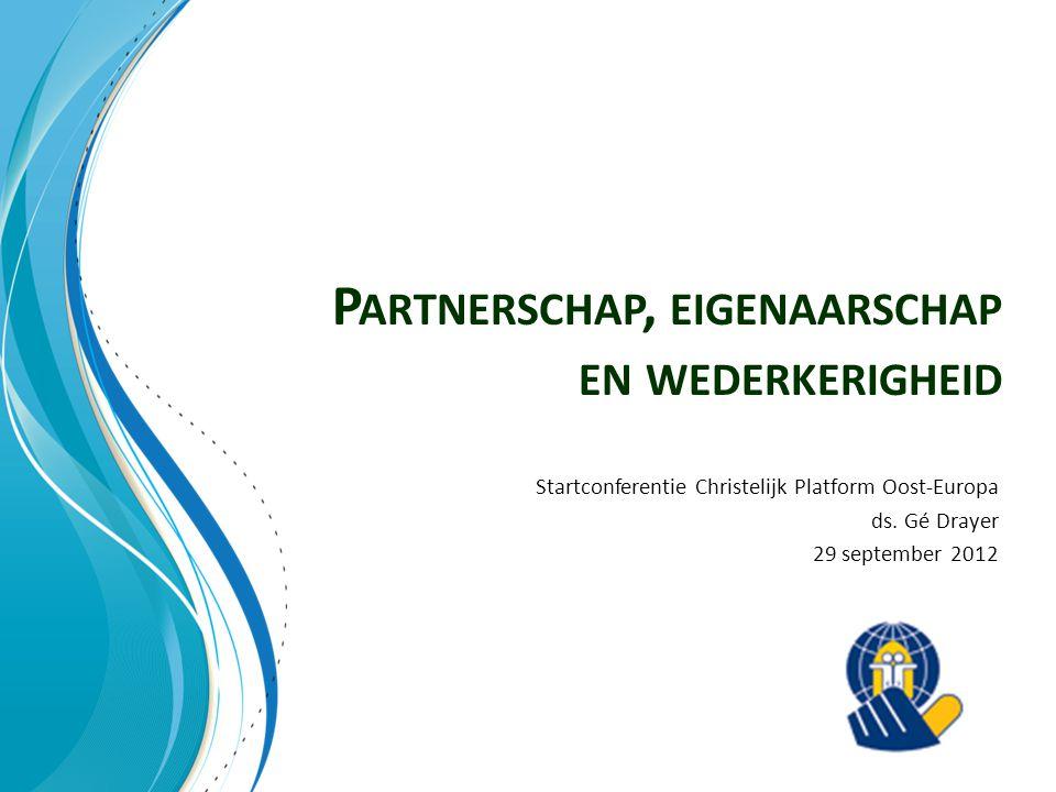 Partnerschap, eigenaarschap en wederkerigheid