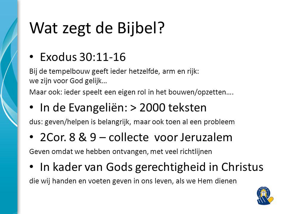 Wat zegt de Bijbel Exodus 30:11-16