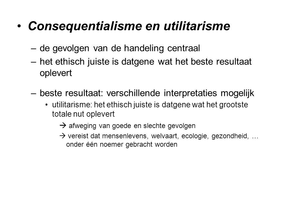 Consequentialisme en utilitarisme