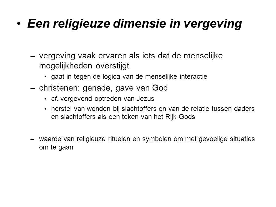 Een religieuze dimensie in vergeving