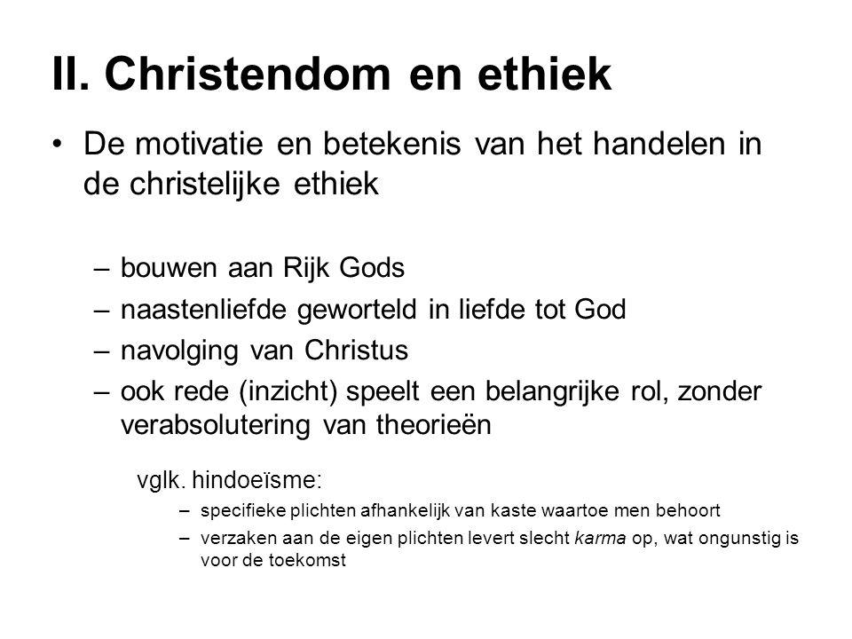 II. Christendom en ethiek