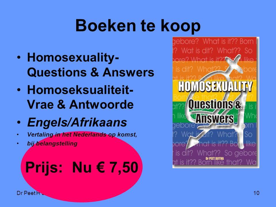 Boeken te koop Prijs: Nu € 7,50 Homosexuality- Questions & Answers
