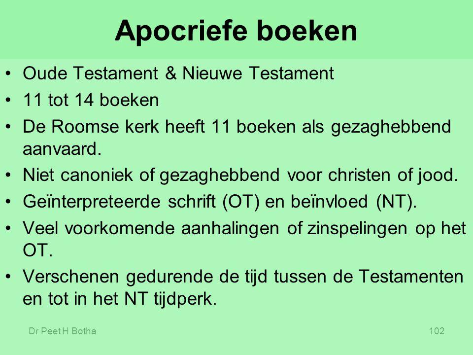 Apocriefe boeken Oude Testament & Nieuwe Testament 11 tot 14 boeken