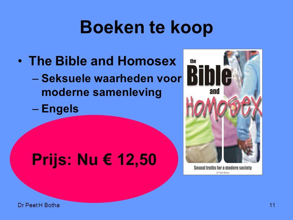 Boeken te koop Prijs: Nu € 12,50 The Bible and Homosex