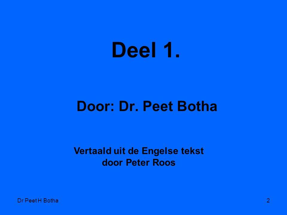 Vertaald uit de Engelse tekst door Peter Roos