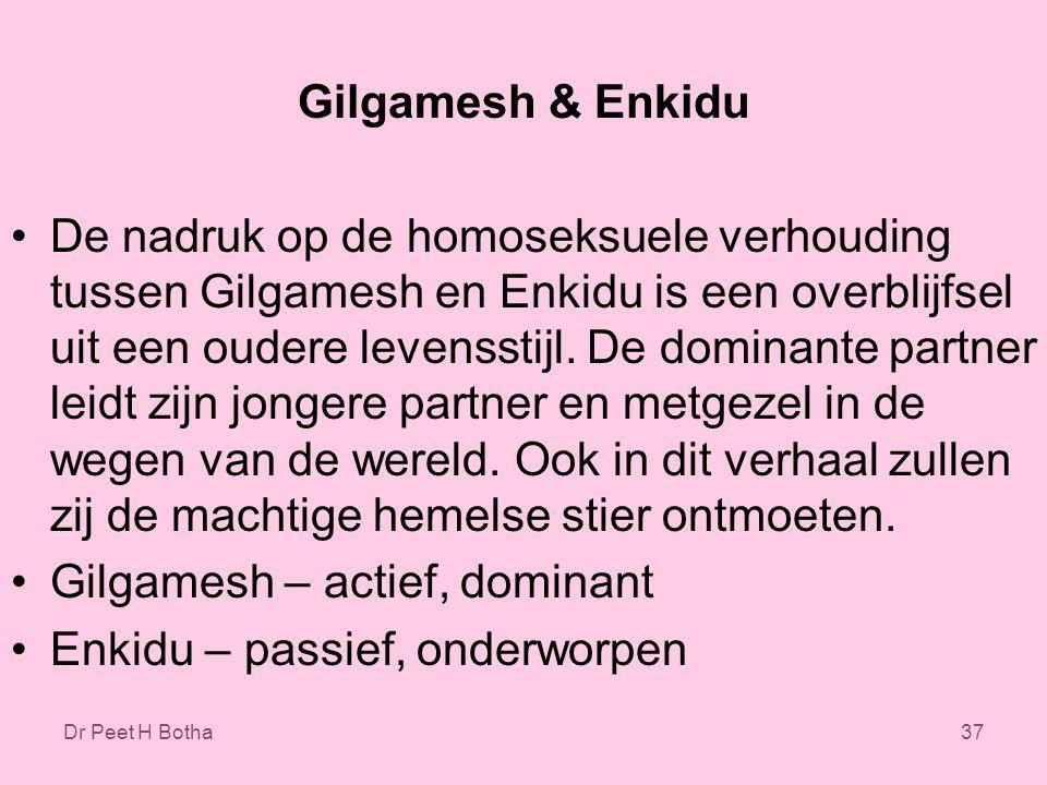 Gilgamesh – actief, dominant Enkidu – passief, onderworpen