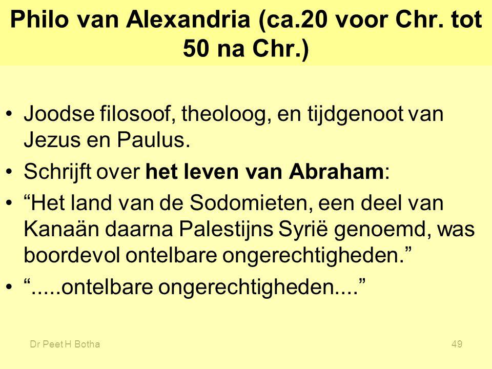 Philo van Alexandria (ca.20 voor Chr. tot 50 na Chr.)