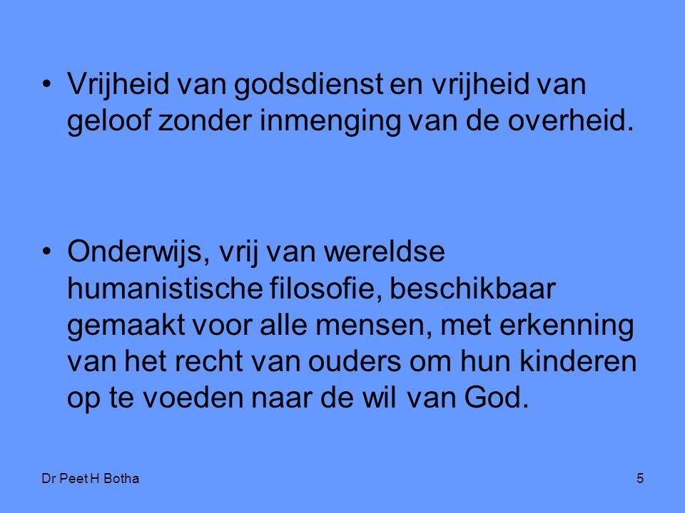 Vrijheid van godsdienst en vrijheid van geloof zonder inmenging van de overheid.
