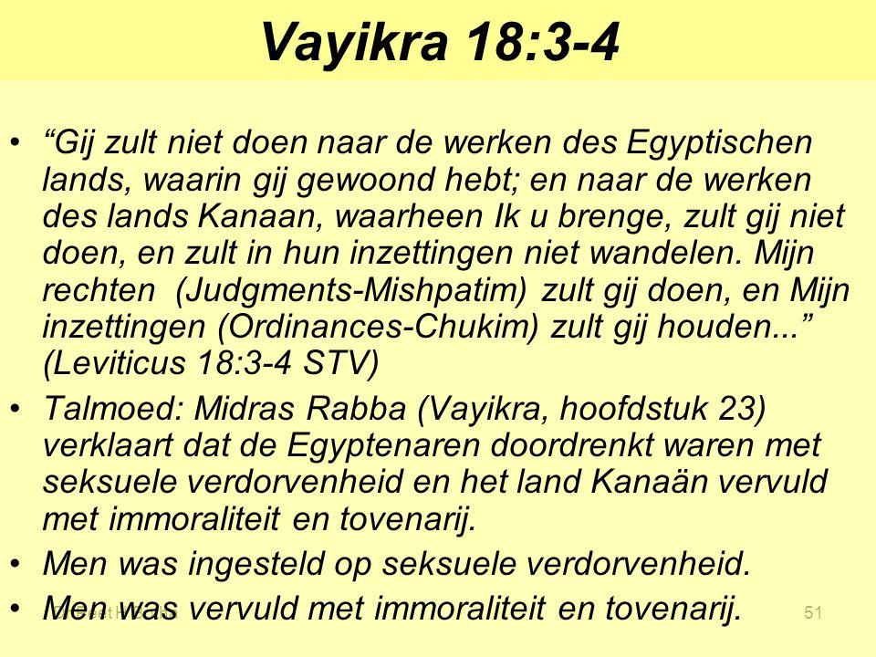 Vayikra 18:3-4