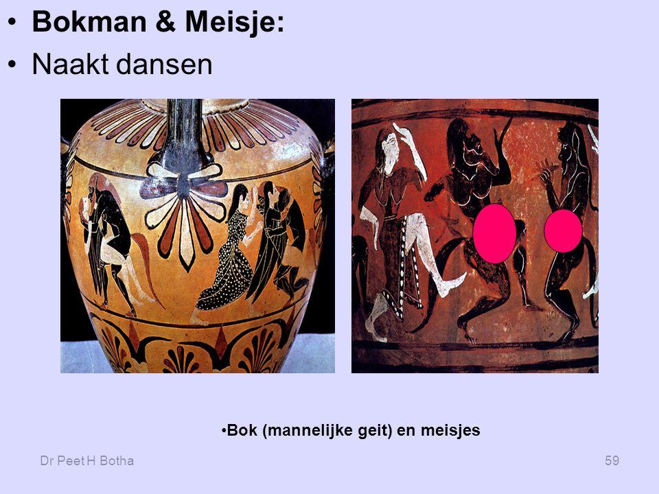Bokman & Meisje: Naakt dansen Bok (mannelijke geit) en meisjes