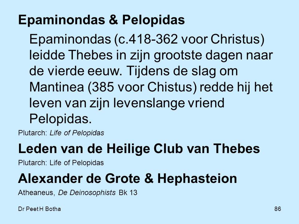 Epaminondas & Pelopidas