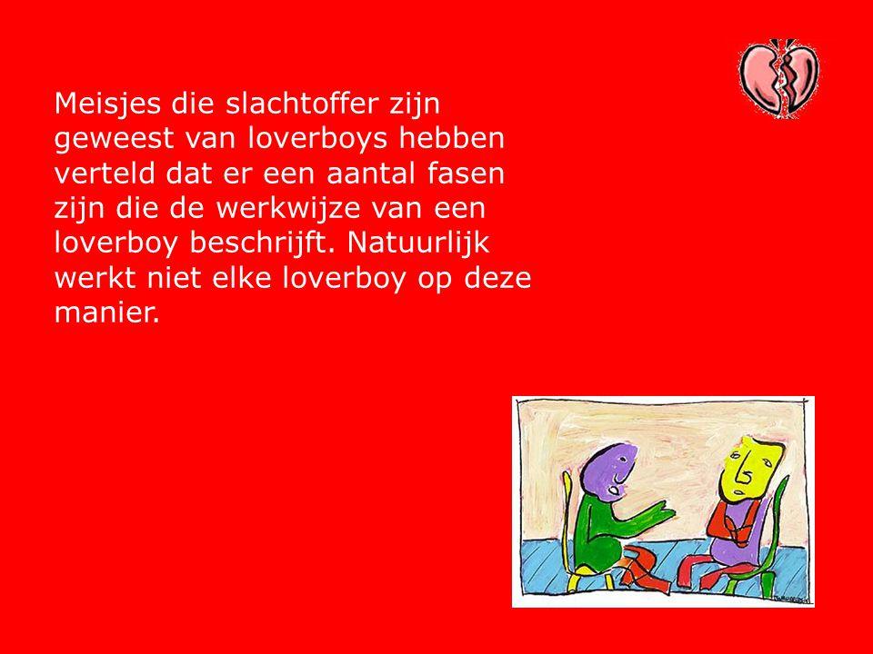 Meisjes die slachtoffer zijn geweest van loverboys hebben verteld dat er een aantal fasen zijn die de werkwijze van een loverboy beschrijft.