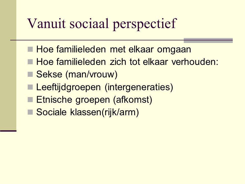 Vanuit sociaal perspectief