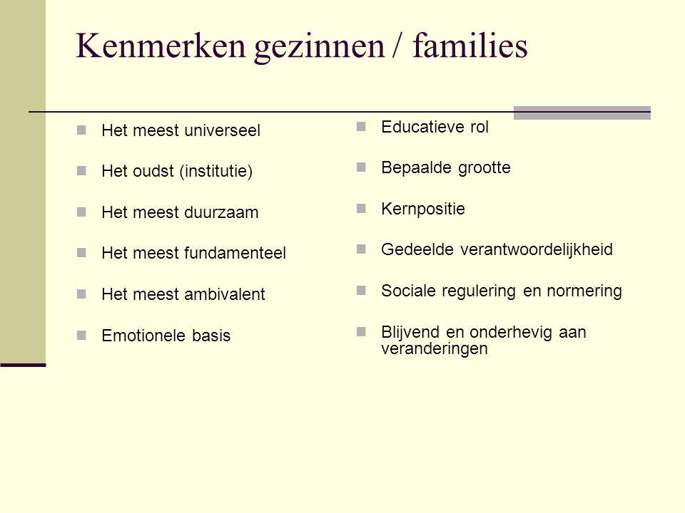 Kenmerken gezinnen / families