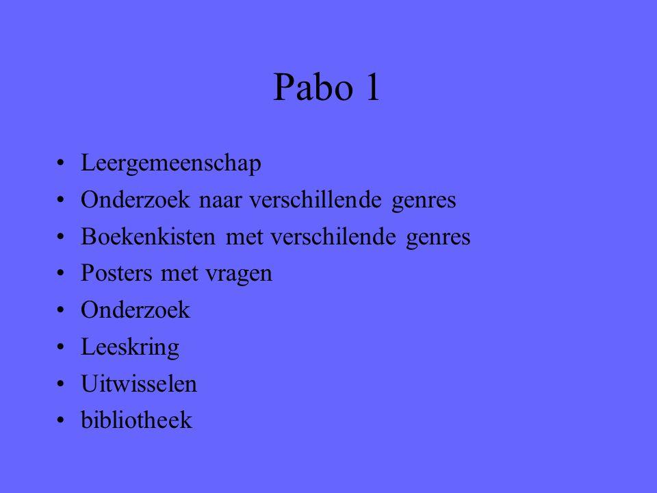 Pabo 1 Leergemeenschap Onderzoek naar verschillende genres