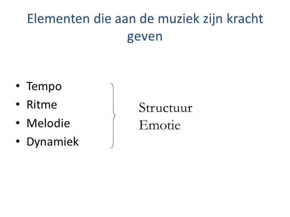 Elementen die aan de muziek zijn kracht geven