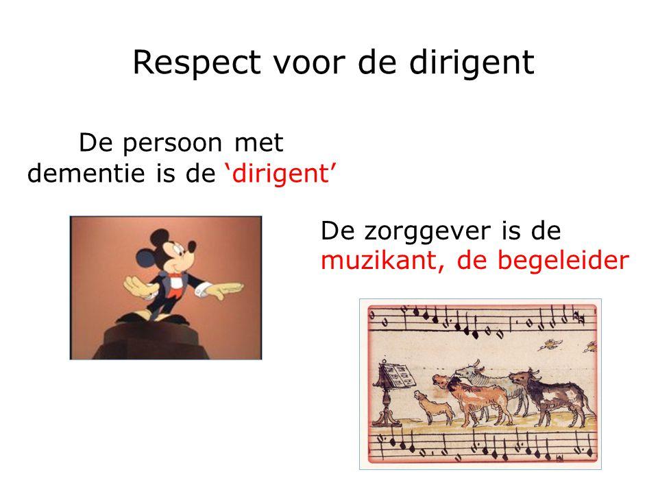 Respect voor de dirigent