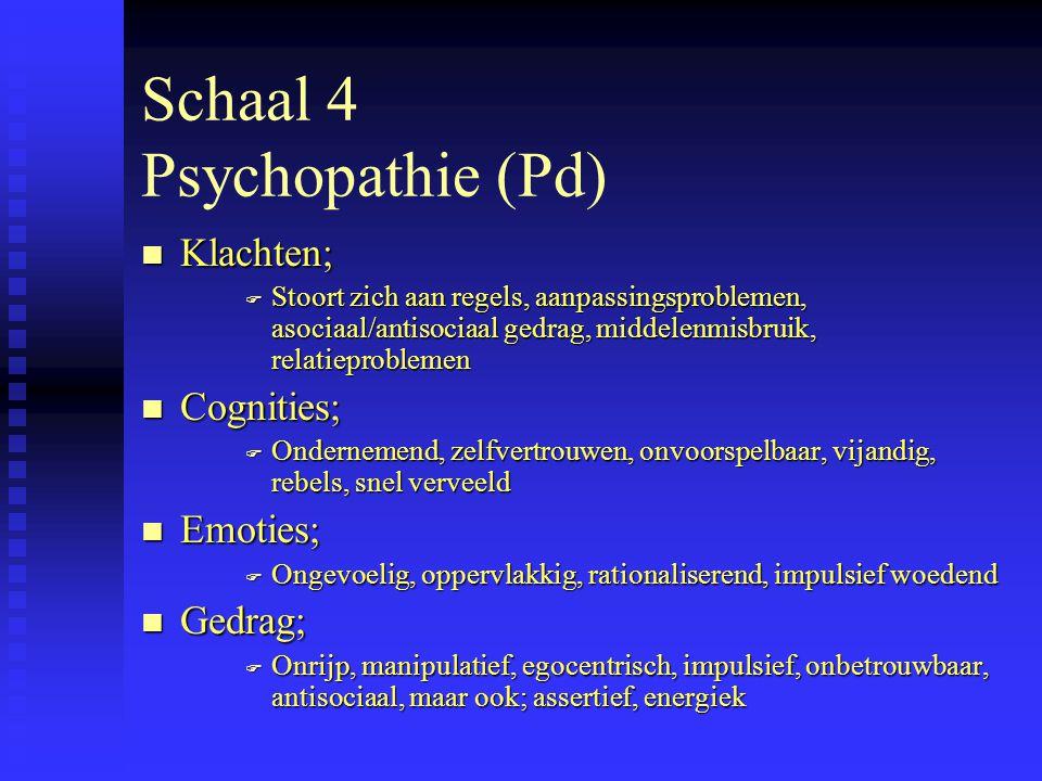 Schaal 4 Psychopathie (Pd)