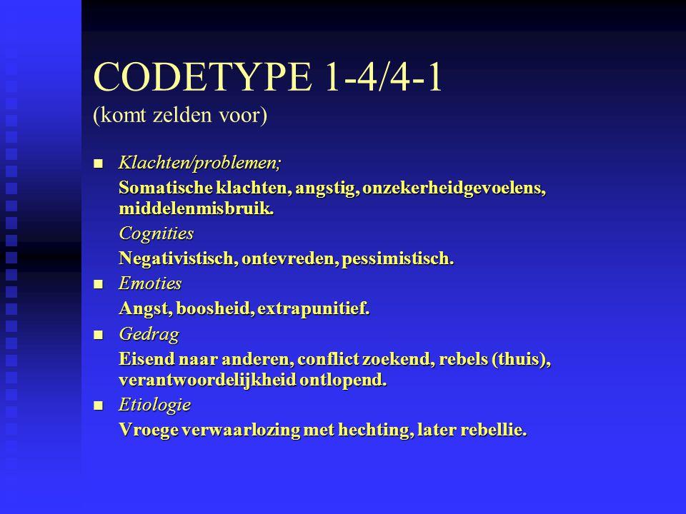CODETYPE 1-4/4-1 (komt zelden voor)