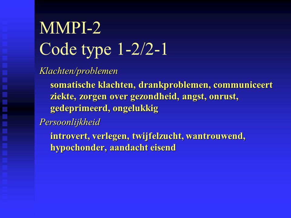 MMPI-2 Code type 1-2/2-1 Klachten/problemen