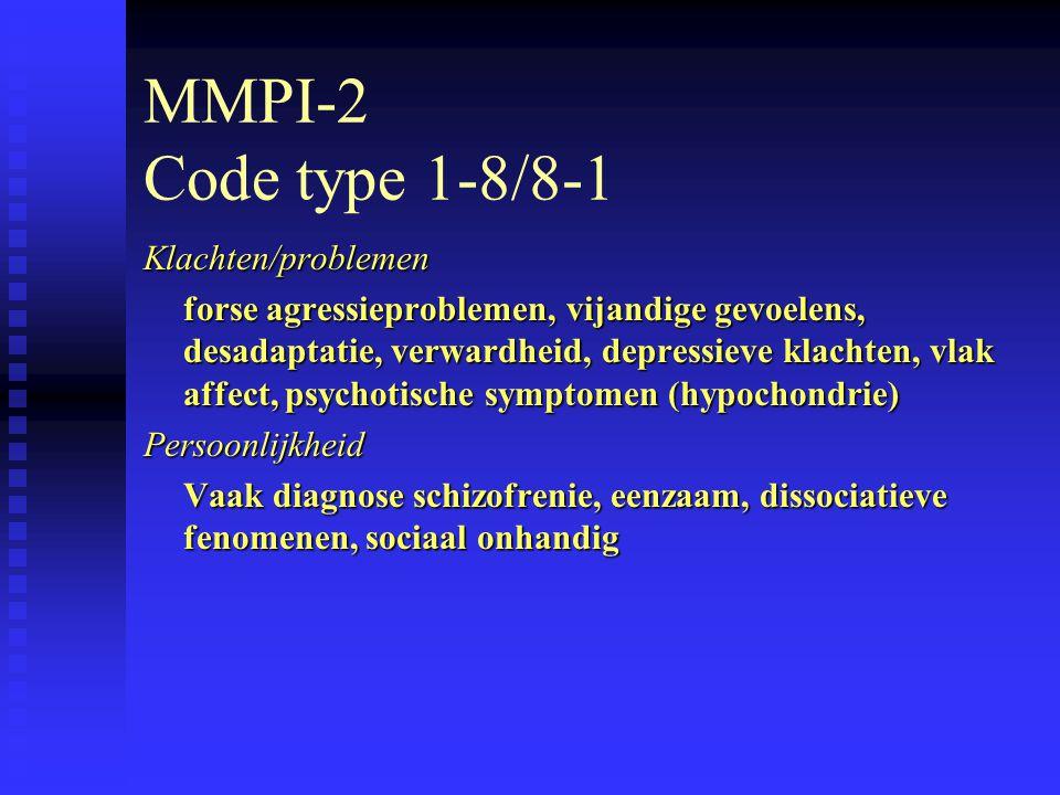 MMPI-2 Code type 1-8/8-1 Klachten/problemen