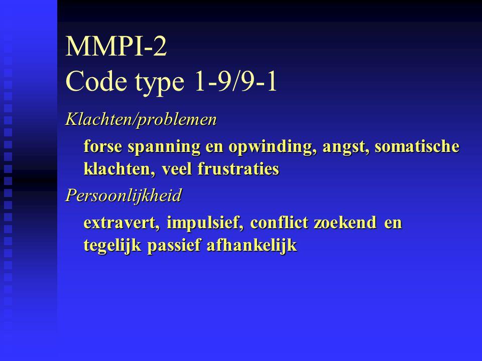 MMPI-2 Code type 1-9/9-1 Klachten/problemen
