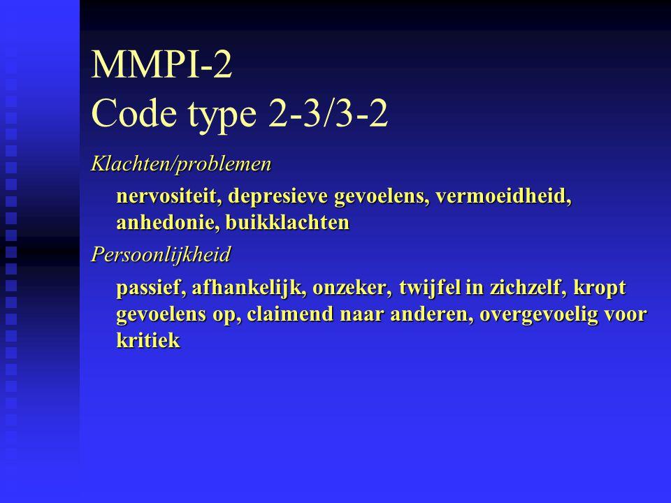 MMPI-2 Code type 2-3/3-2 Klachten/problemen