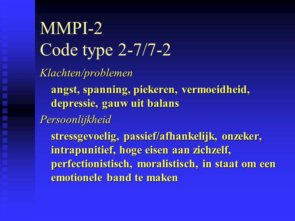 MMPI-2 Code type 2-7/7-2 Klachten/problemen