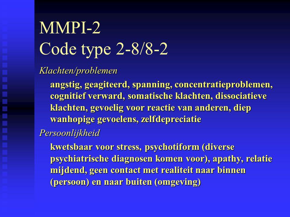 MMPI-2 Code type 2-8/8-2 Klachten/problemen