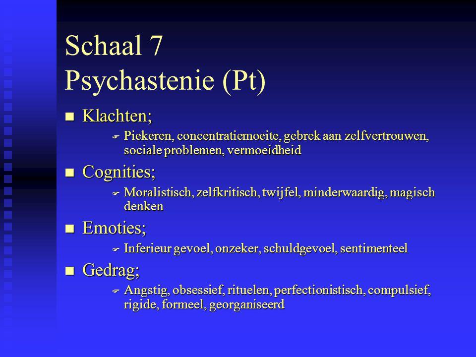 Schaal 7 Psychastenie (Pt)