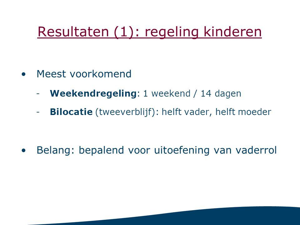 Resultaten (1): regeling kinderen