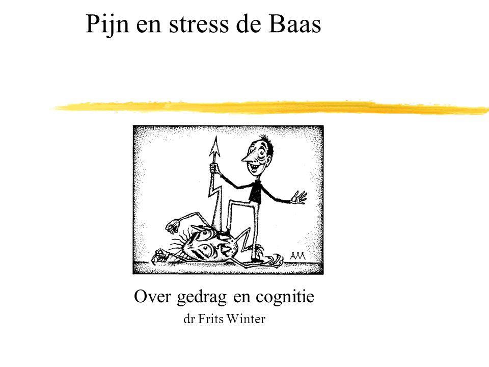 Over gedrag en cognitie dr Frits Winter