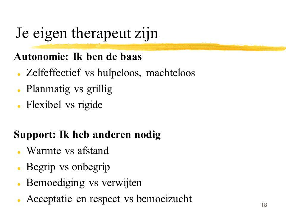 Je eigen therapeut zijn