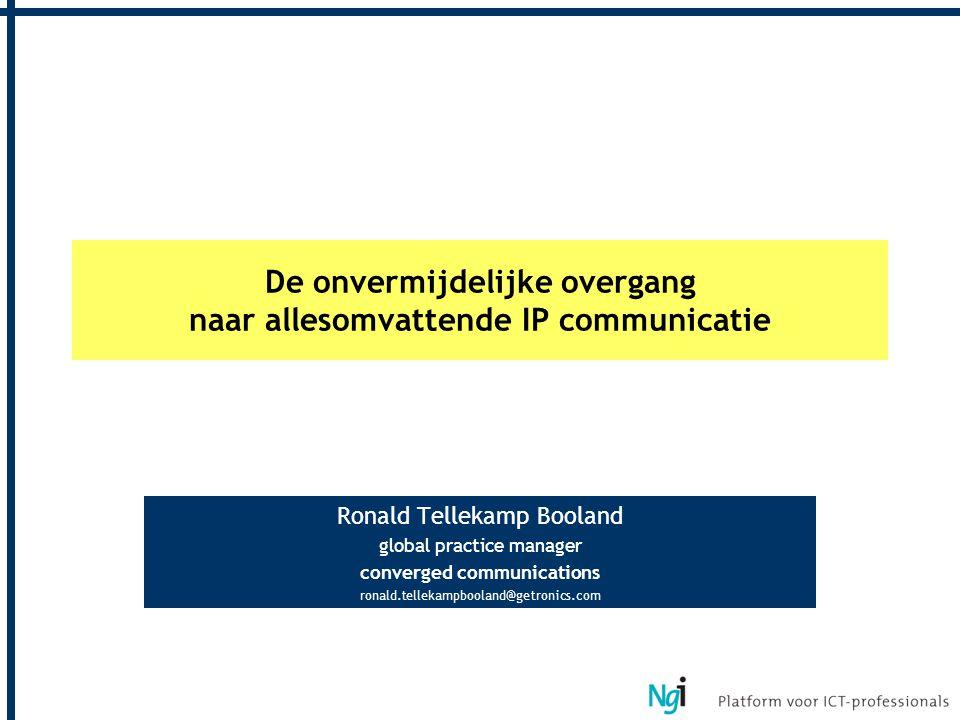 De onvermijdelijke overgang naar allesomvattende IP communicatie