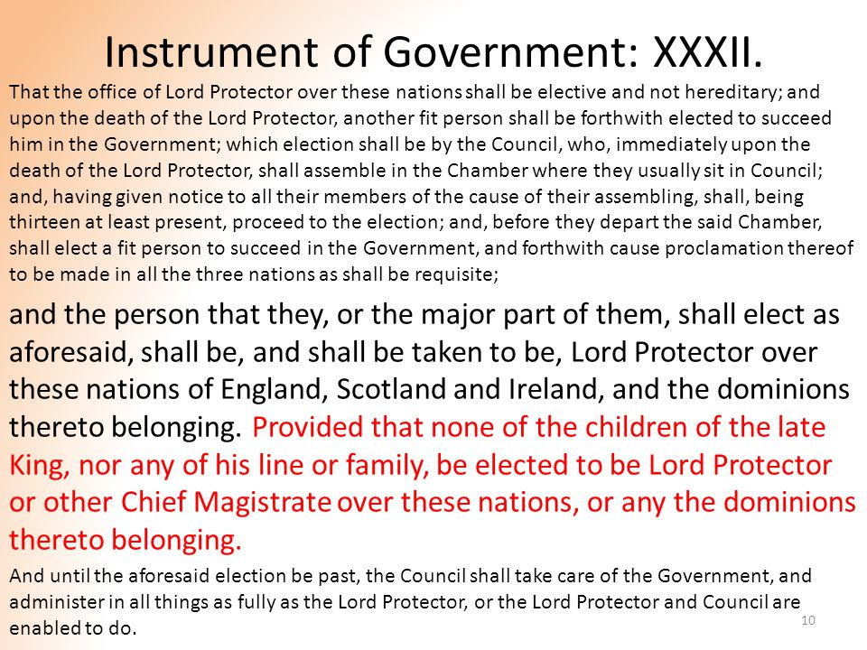 Instrument of Government: XXXII.