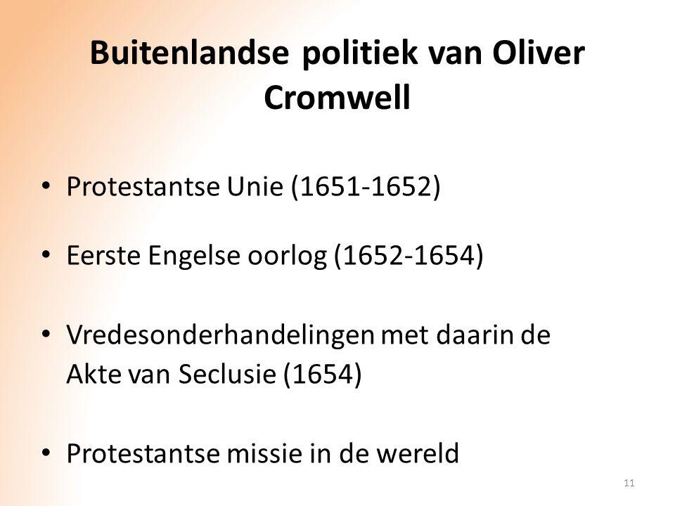 Buitenlandse politiek van Oliver Cromwell