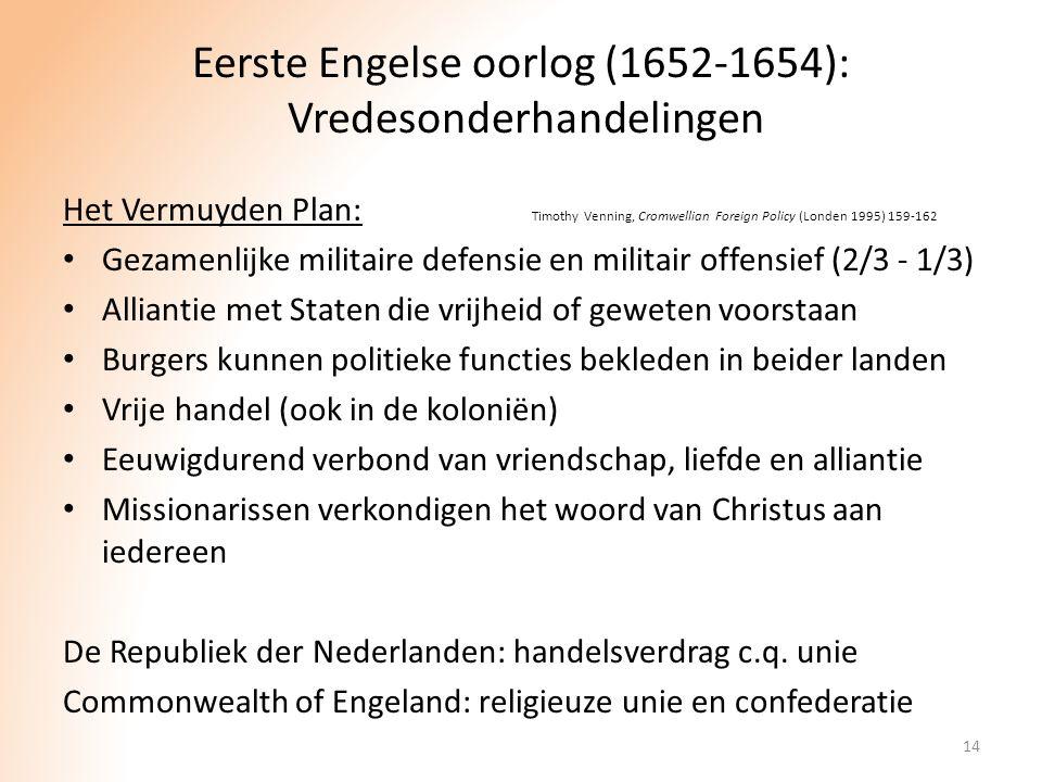 Eerste Engelse oorlog (1652-1654): Vredesonderhandelingen