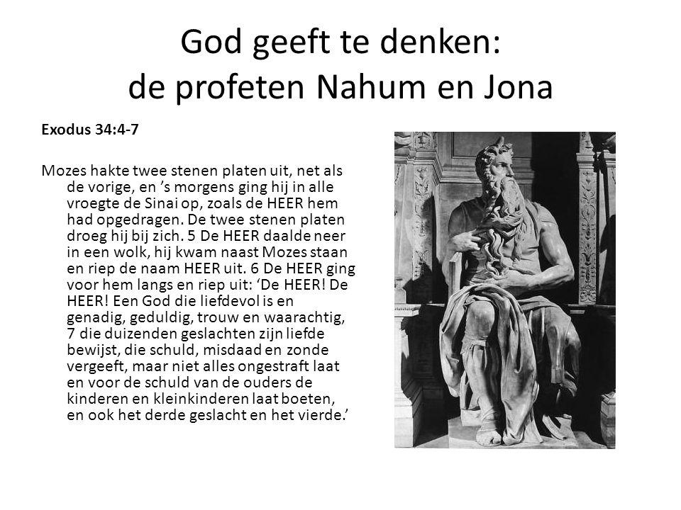 God geeft te denken: de profeten Nahum en Jona
