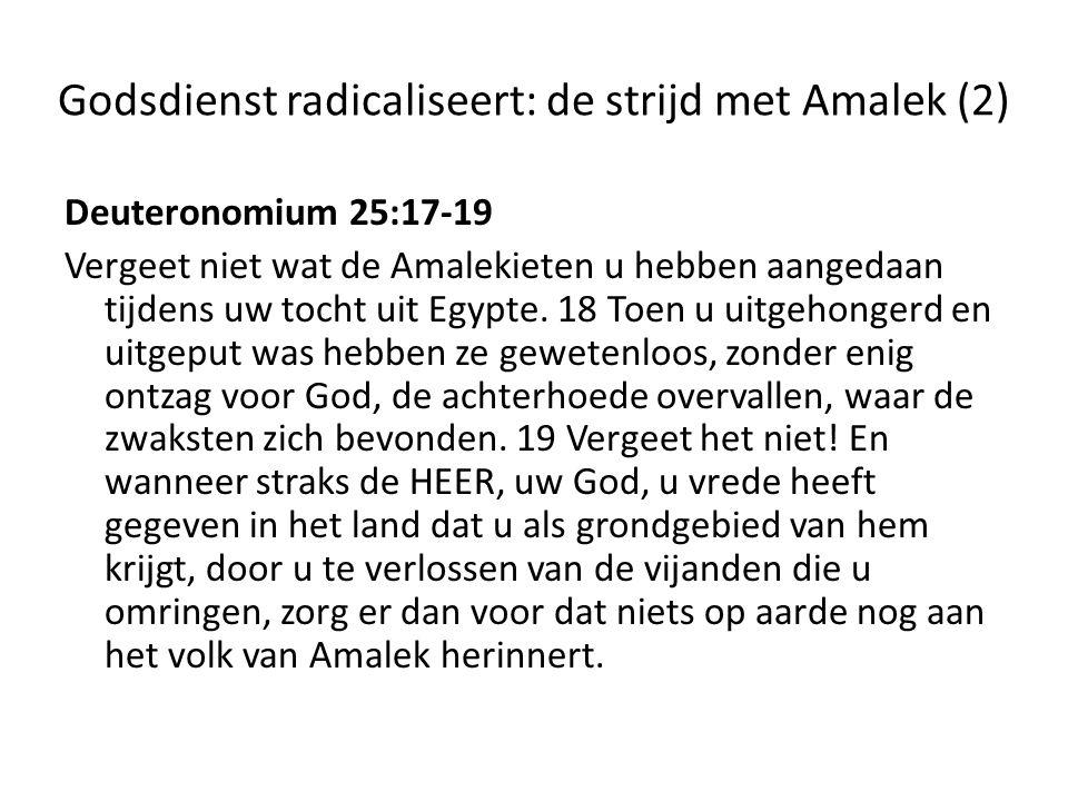 Godsdienst radicaliseert: de strijd met Amalek (2)
