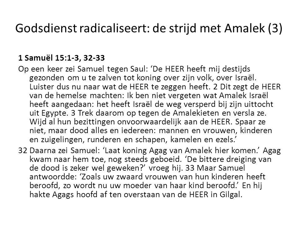 Godsdienst radicaliseert: de strijd met Amalek (3)
